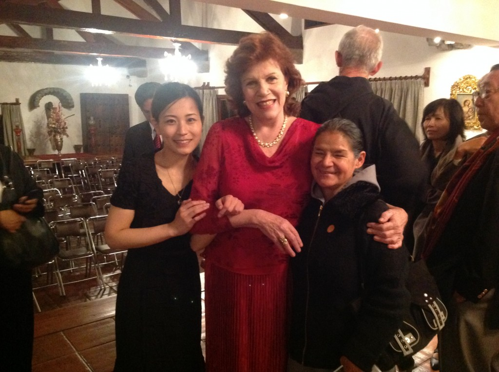 With Christine, and sister Auria.